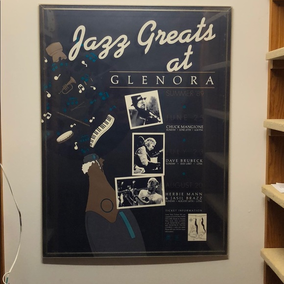 RARE Vintage Jazz Poster with Frame